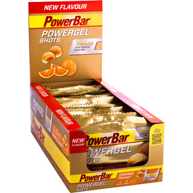 PowerBar PowerGel Shots Caja 16x60g, Orange